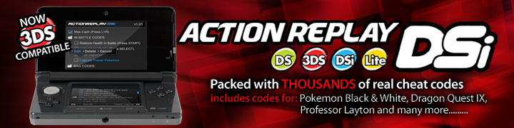 DSi Action Replay now 3DS compatible