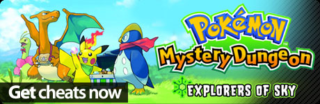 Now with Cheat Codes for Pokemon Mystery Dungeon: Explorers of Sky cheat codes